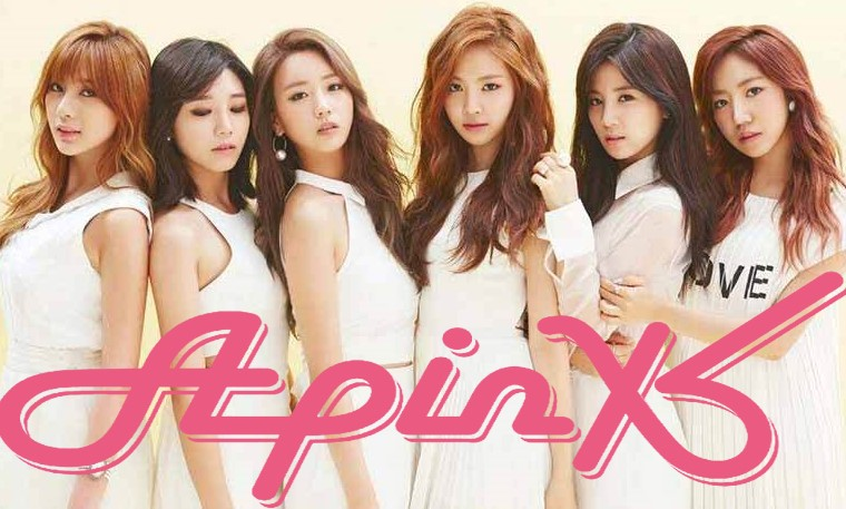 Apink group photo with logo